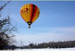 Romantiškas skrydis oro balionu žiemą Vilniuje