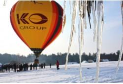 Nepamirštamas skrydis oro balionu žiemą Vilniuje