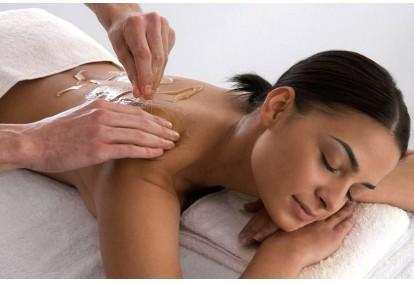 Harmonizuojantis nugaros + galvos + gintarinis pėdų masažas