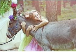 Teminė vaikų fotosesija su asiliuku 1-3 vaikams Vilniuje