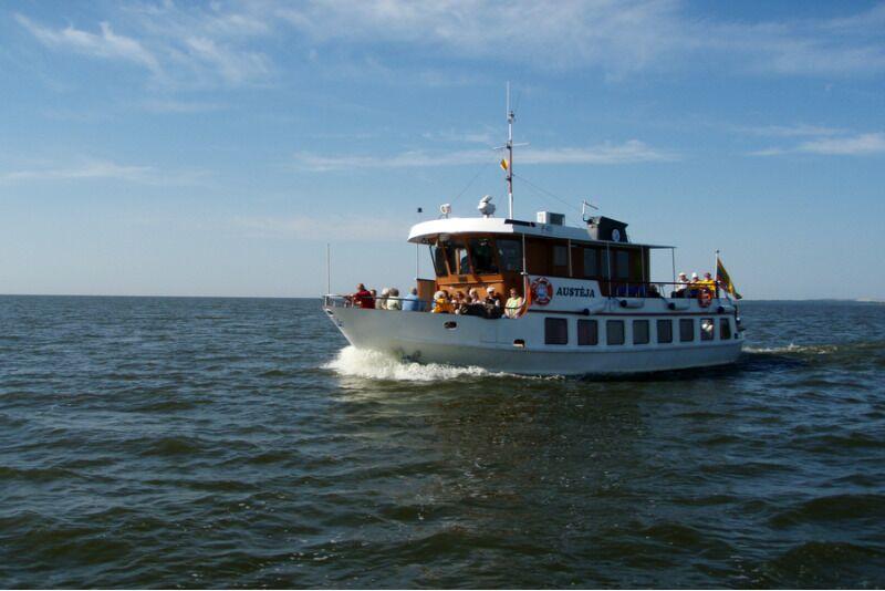 Kelionė laivu iš Nidos į Ventės ragą dviem