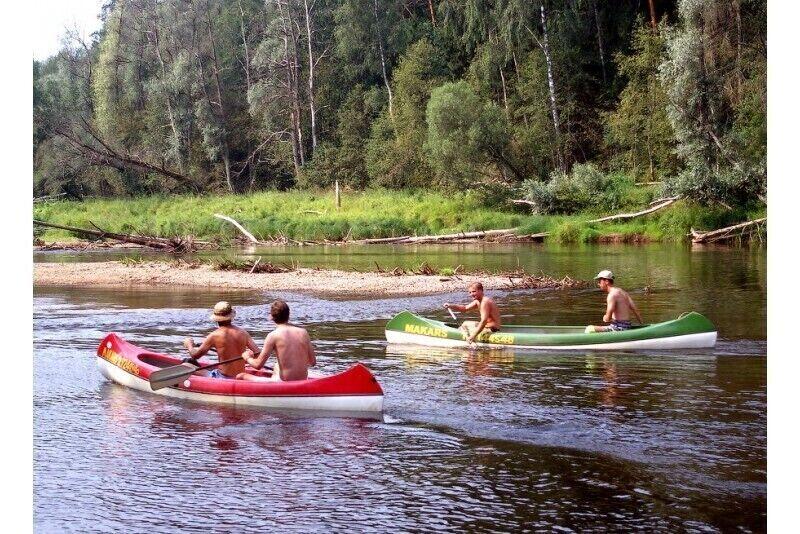 Plaukimas Gaujos upe (3 km maršrutas) Siguldoje