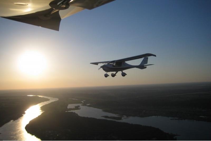 Įsimintinas mokomasis skrydis virš Kauno su filmavimu