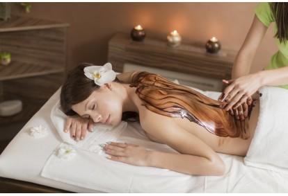 Atpalaiduojantis šokolado masažas + viso kūno įvyniojimas