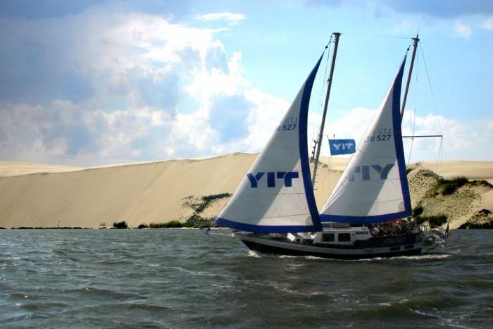 """Romantiška kelionė jachta """"Montė"""" į Nemuno deltą, Mingės kaimą"""
