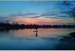 Plaukimas irklentėmis Nemuno deltoje