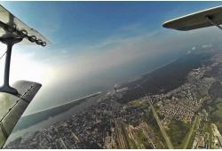 Skrydis lėktuvu virš Klaipėdos