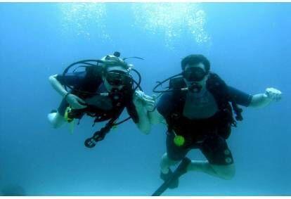 Pažintinis nėrimas dviems su povandenine fotosesija