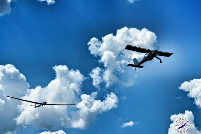 Skrydis sklandytuvu su akrobatiniais elementais Panevėžyje