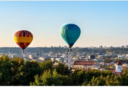 """Nepamirštamas skrydis oro balionu virš Vilniaus arba Trakų su """"Hot Air Lines"""""""