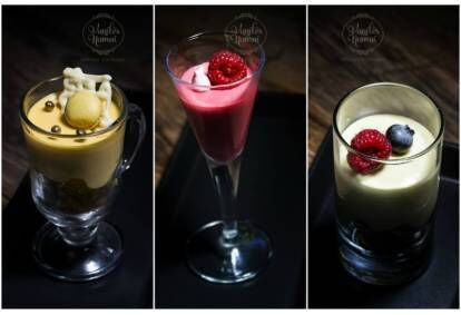 """Prancūziškų desertų degustacija su gėrimu """"Vanilės namuose"""""""