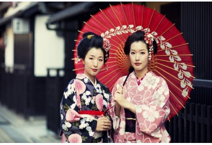 Apsirengimas autentišku japonišku kimono Kaune