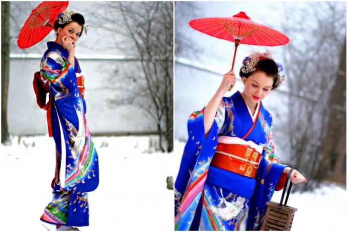 Mini fotosesija apsirengus kimono Kaune