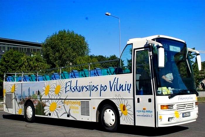Ekskursija atviru autobusu Vilniuje (2 asmenims)