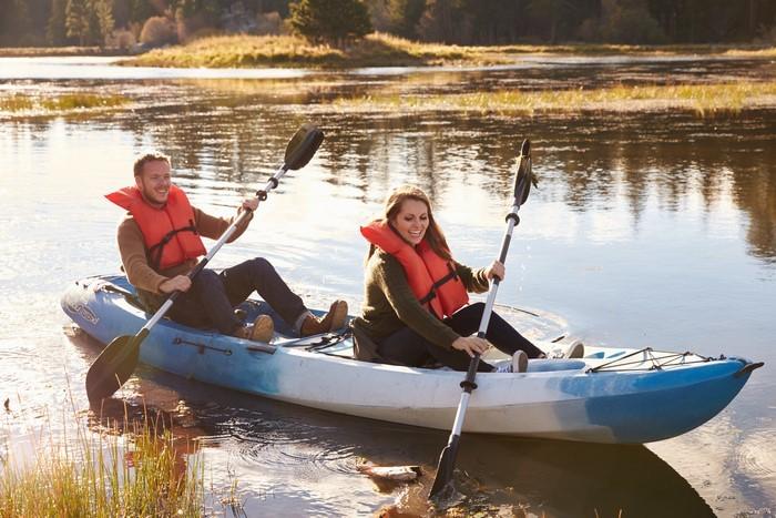 Romantiškas plaukimas baidarėmis Verknės upe