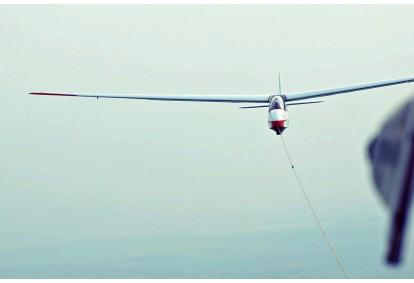 Skrydis sklandytuvu virš Biržų