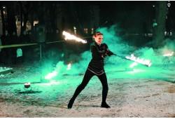 Individuali žongliravimo ugnimi pamoka
