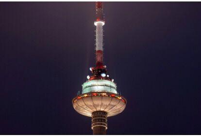 Vakarienė virš debesų dviem Televizijos bokšte