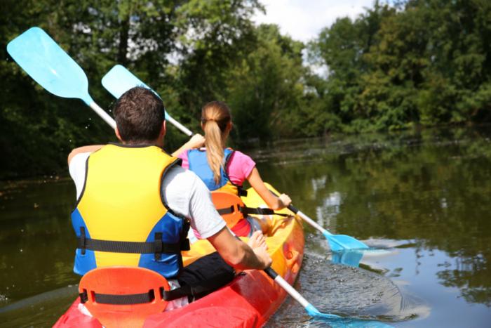 Pasiplaukiojimas baidare dviems asmenims Merkio upe