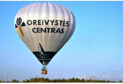 """Skrydis oro balionu virš Panevėžio su """"Oreivystės centru"""""""