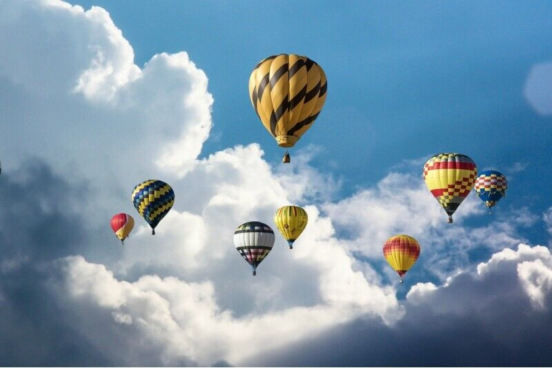 Skrydis oro balionu dviem Jelgava