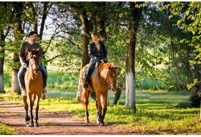 Jodinėjimas žirgais dviems po Anykščių apylinkes