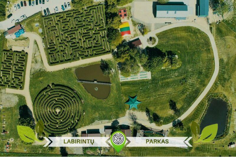 Apsilankymas labirintų parke Anykščiuose