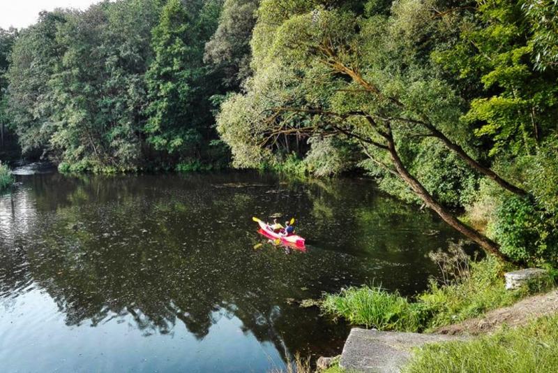 Įspūdingas plaukimas baidare Vokės upe dviem