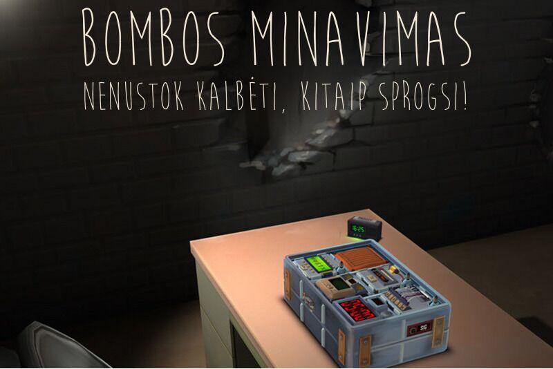 """Žaidimas """"Bombos minavimas"""" Vilniuje"""