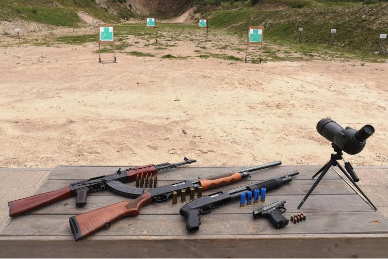 Šaudymo iš keturių ginklų iššūkis Švenčionyse