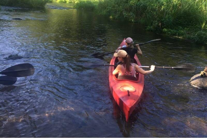 Plaukimas baidare Jūros upe 1-2 asmenims