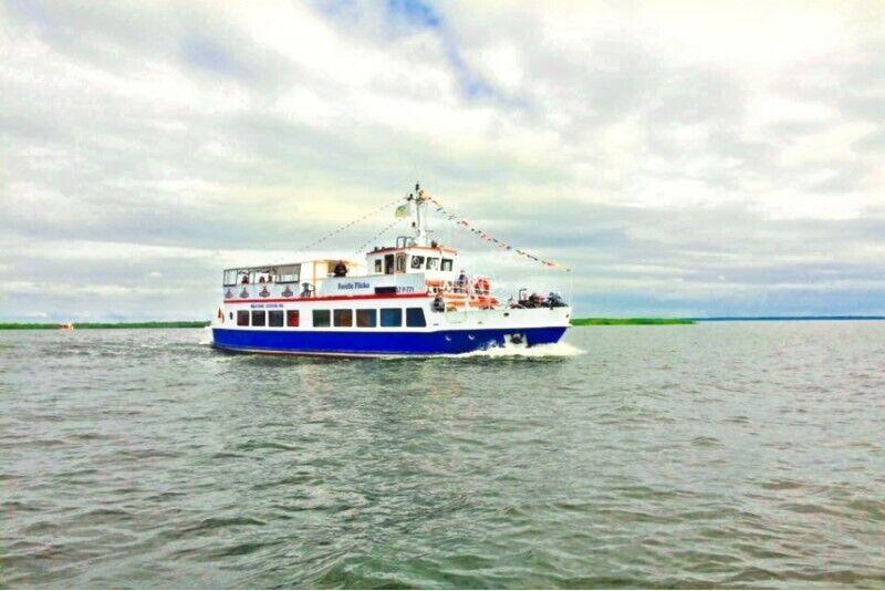 """Kelionė laivu """"Forelle – Flicka"""" iš Minijos kaimo į Uostadvarį bei Nidą"""