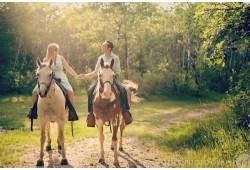Romantiška išvyka dviem žirgais į Kryžių kalną