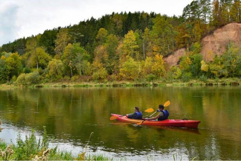 Pažintinis plaukimas baidare Kauno rajone