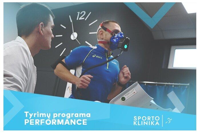 """Funkcinių tyrimų programa PERFORMANCE """"Sporto klinikoje"""" Kaune"""