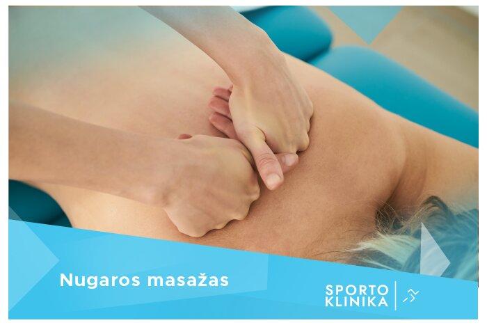 """Nugaros masažas """"Sporto klinikoje"""" Kaune"""